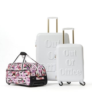 Macbeth Out of Office White 3-piece Hardside Spinner Luggage Set