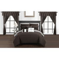 Chic Home Liron 20-piece Brown Reversible Bed in a Bag with Sheet Set