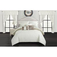 Chic Home Liron 20 Piece Beige Comforter Set Reversible Bed in a Bag