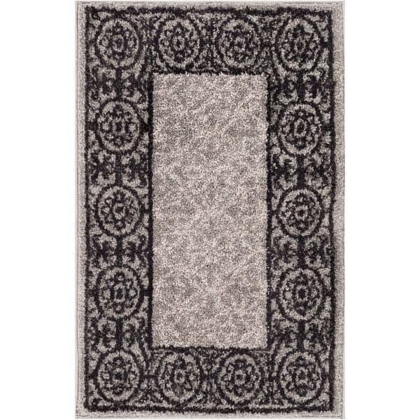 Modern Solid Grey Mat Accent Rug