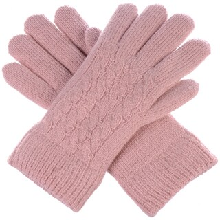 BYOS Winter Classic Cable Ultra Warm Plush Fleece Lined Knit Gloves, More Styles