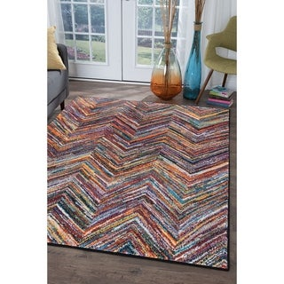 Alise Rhapsody Contemporary Chevron Area Rug (4x6)