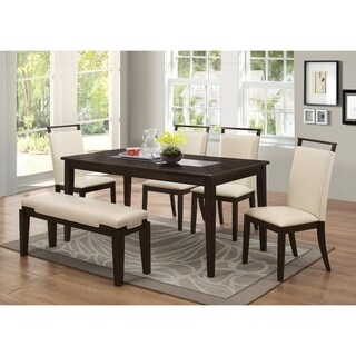 Best Master Furniture 6 Pcs Espresso Dining Set