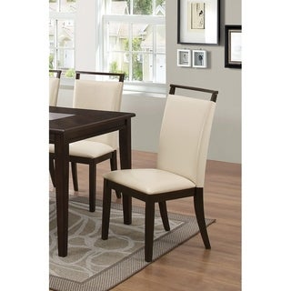 Link to Best Master Furniture  Espresso with Beige Side Chairs (Set of 2) Similar Items in Dining Room & Bar Furniture