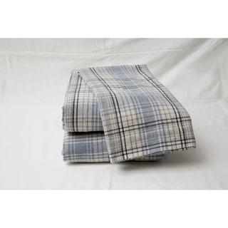 Flannel Plaid Sheet Set