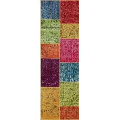 String Matter Handmade Antique Patchwork Rug (2'7 x 8'2)