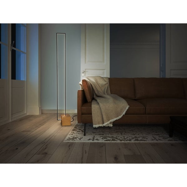 VONN Lighting Silva VSSF5109BL 60-inch Integrated LED Floor L& in Plated Black Wood Finish - Free Shipping Today - Overstock.com - 25516735  sc 1 st  Overstock.com & VONN Lighting Silva VSSF5109BL 60-inch Integrated LED Floor Lamp ... azcodes.com