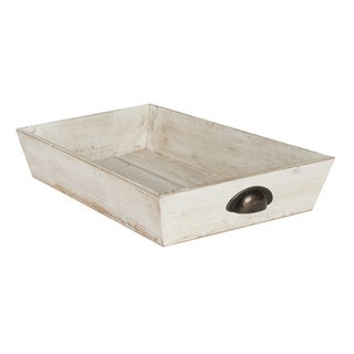 Kate and Laurel Woodmont Distressed Wood Decorative Tray