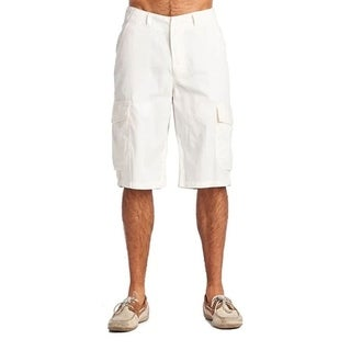 One Tough Brand Men's Fashion 6 Pocket Cargo Shorts White