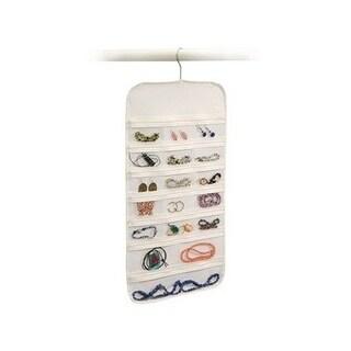 37 Pocket Hanging Zippered Jewelry Organizer