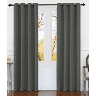 """Dainty Home Matelasse Extra Wide Grommet Window Curtain Panel Pair - 54"""" w x 84"""" l"""