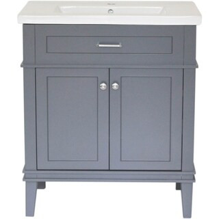 """Home Elements A-Series VA30211GY 30"""" Drop-In Ceramic Gray Vanity"""