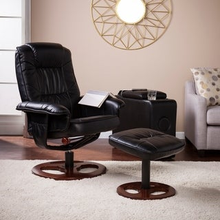 Harper Blvd Lenwood Faux Leather Swivel Recliner With Ottoman (2 Options  Available)