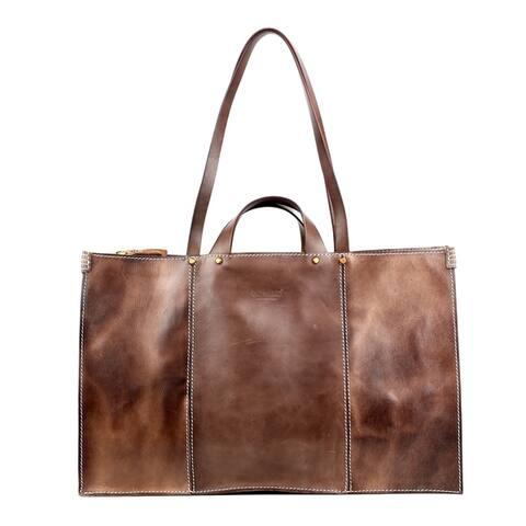 Old Trend Sandstorm Large Genuine Leather Tote Bag