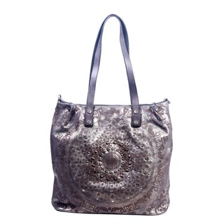 Old Trend Stars Align Genuine Leather Tote Bag