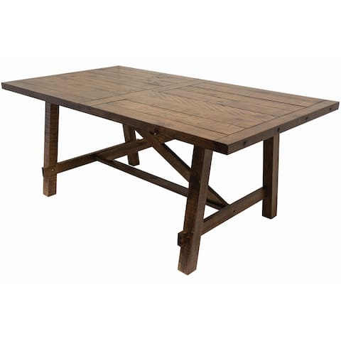 Best Master Furniture Honey Walnut Solid Wood Dining Table