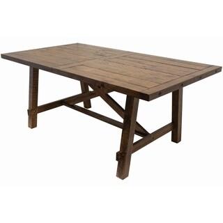 Best Master Furniture Rectangular Honey Walnut Dining Table