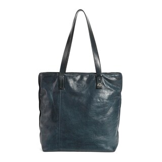 Old Trend Zinnia Hill Tote Bag (Option: Navy - Leather - Zipper)