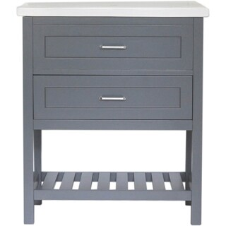 """Home Elements D-Series VD30021GY 30"""" Drop-In Ceramic Gray Vanity"""
