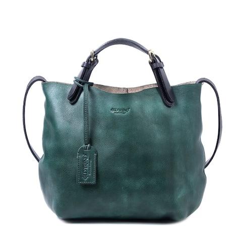 Old Trend Dip Dye Genuine Leather Mini Tote Bag