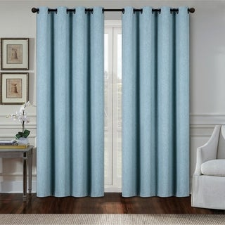 Dainty Home Aspen Heavy Blackout Extra-wide Grommet-top Window Curtain Panel Pair