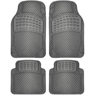 OxGord 4pc Rubber Floor Mats Universal Fit Front Driver Passenger Seat (3 options available)