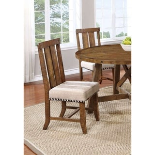 Best Master Furniture Honey Walnut Side Chair (Set of 2)