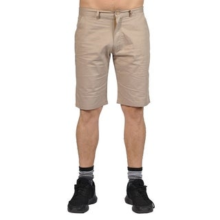 Jean Legacy Mens Casual 2 pocket Chino Shorts Beige