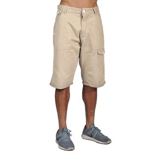 Worior Mens Casual Design Cargo Shorts Beige