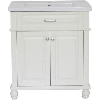 "Home Elements C-Series VC30211WT 30"" Drop-In Ceramic Cream White Vanity"