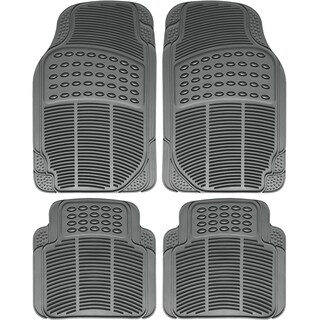 OxGord Universal Fit Front/Rear 4-Piece Set Ridged HD Floor Mats