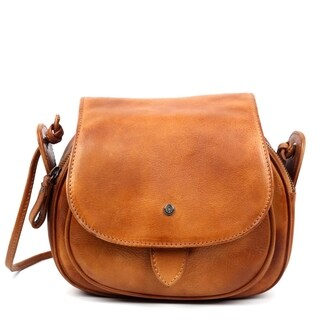 Old Trend Sun Flower Leather Crossbody Bag