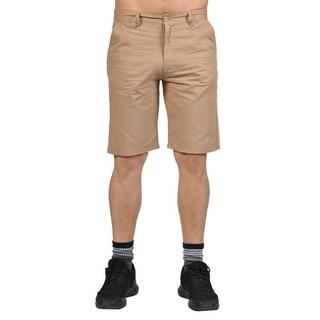 Jean Legacy Mens Casual 2 pocket Chino Shorts Khaki