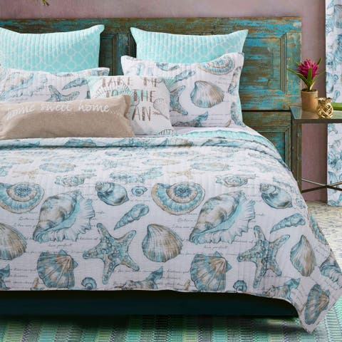 Barefoot Bungalow Cruz Oversized Coastal Quilt Set
