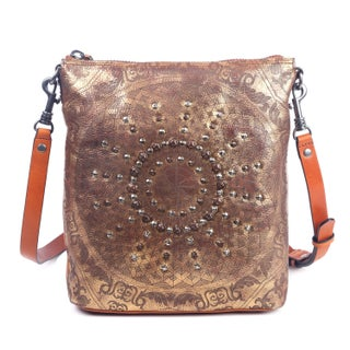 Old Trend Stars Align Genuine Leather Crossbody Bag