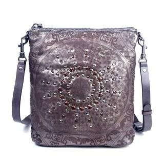 Old Trend Stars Align Genuine Leather Crossbody Bag