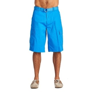 One Tough Brand Men's Fashion 6 Pocket Cargo Shorts Sky Blue