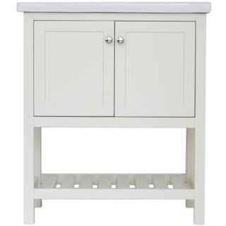 "Home Elements D-Series VD30201WT 30"" Drop-In Ceramic Cream White Vanity"
