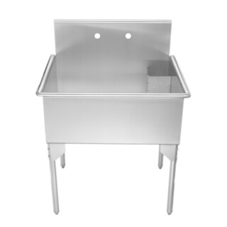 Whitehaus Collection Commerical Style Freestanding Utility Sink