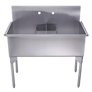 Whitehaus Collection Double Bowl Commerical Style Utility Sink