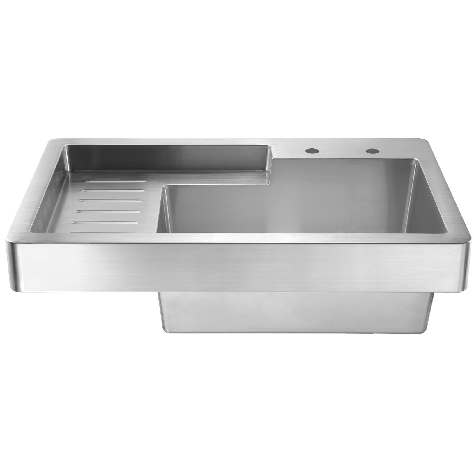 Picture of: Shop Whitehaus Collection Single Bowl Drop In Utility Sink With Drainboard On Sale Overstock 19526028