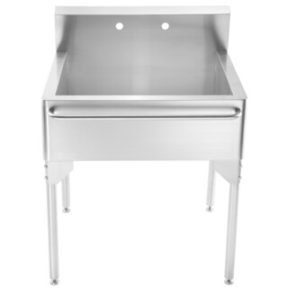 Whitehaus Collection Single Bowl Utility Sink with Towel Bar