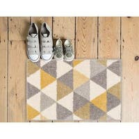 Well Woven Melbourne Modern Abstract Gold Grey Mat Accent Rug - 2' x 3'