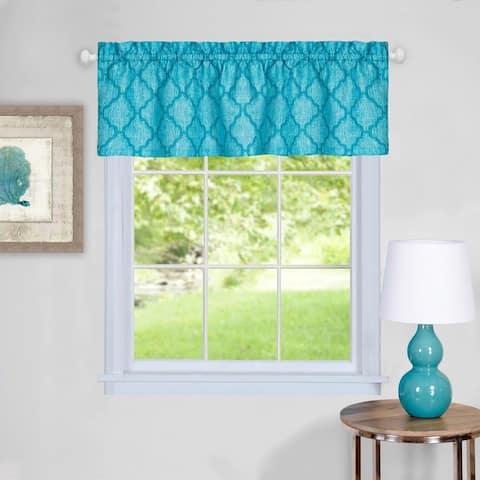 Trellis Pattern Window Valance (Turquoise)