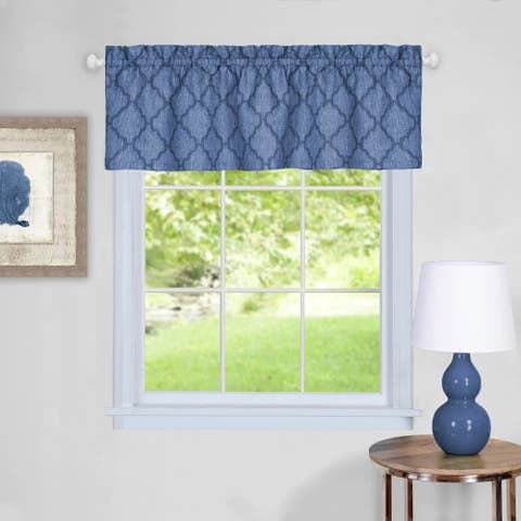 Trellis Pattern Window Valance (Blue)