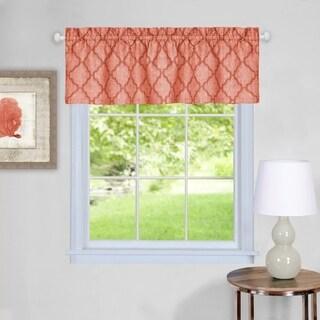 Trellis Pattern Window Valance (Orange)