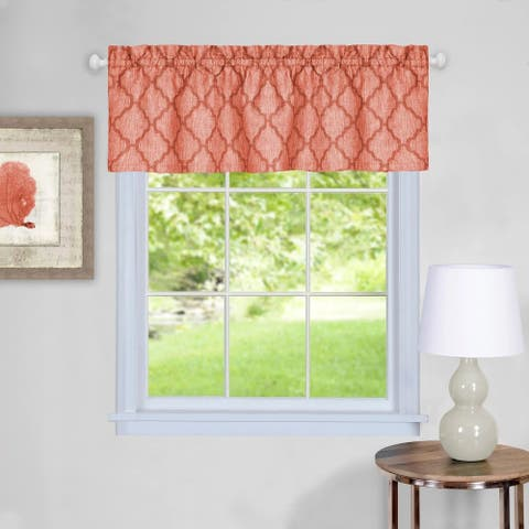 Trellis Pattern Window Valance (Orange)