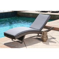 Abbyson Palermo Outdoor Wicker Adjustable Patio Chaise with Cushion