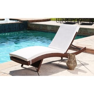 Abbyson Palermo Outdoor Brown Wicker Adjustable Patio Chaise