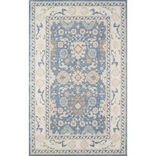 "Momeni Anatolia Machine Made Wool and Nylon Light Blue Area Rug - 9'9"" x 12'6"""